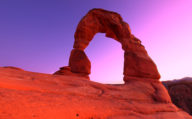 Red rocked arch at Arches National Park, Western America.