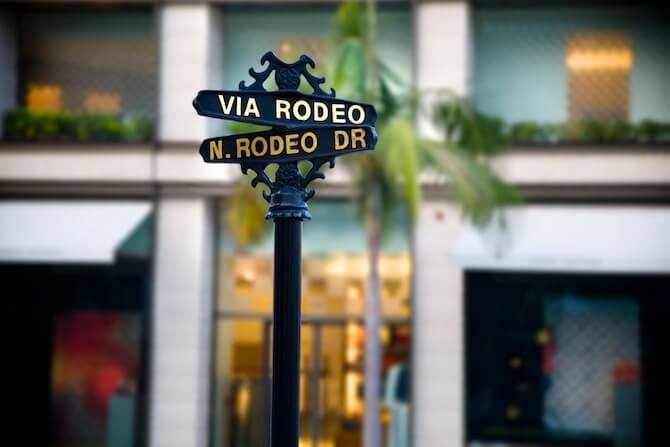 Beverly Hills. Los Angeles, California, USA - Rodeo Drive