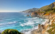The coastline of Big Sur, California