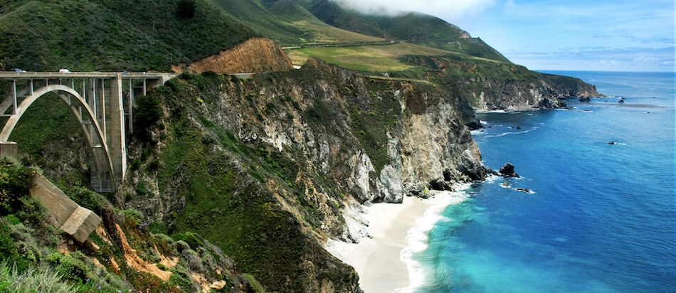 Big Sur, California, Bixby bridge and Beach