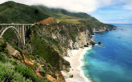 Pacific Coast Highway. The Big Sur, Bixby Bridge