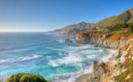 Drive along the Big Sur, Highway 1, California
