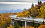 Linn Cove viaduct, blue Ridge Parkway in North Carolina