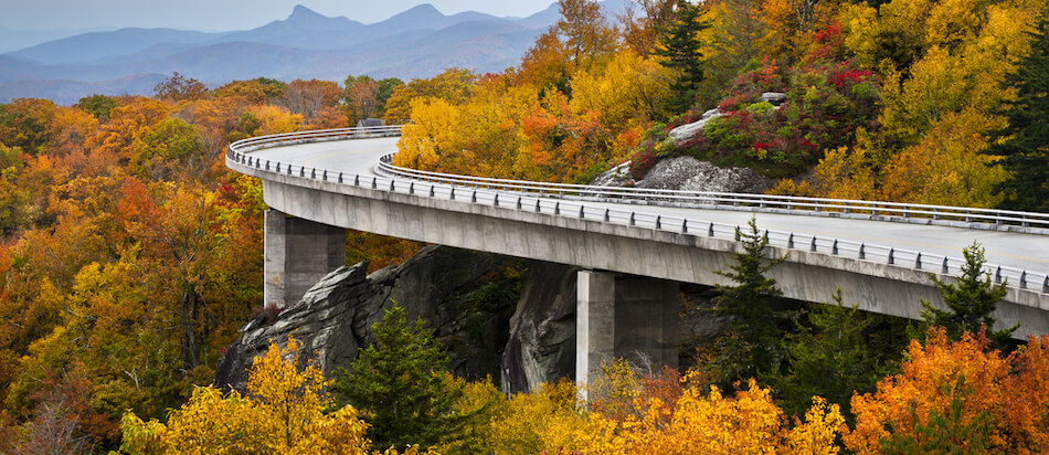 Blue Ridge Parkway ,USA. Lynn Cove.