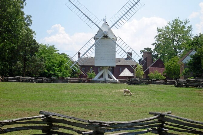 Colonial Parkway, Virginia, USA - Historic windmill