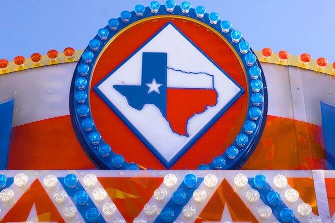 Dallas, Texas, USA - Texas fair sign