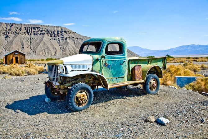 Death Valley National Park, California, USA - Old Truck in Death Valley