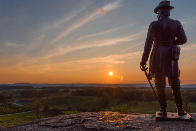 Gettysburg Pennsylvania USA Road Trip National Monument