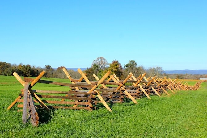 Gettysburg National Military Park, USA - Fence