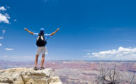 A Tourist at the Grand Canyon, Southwest America