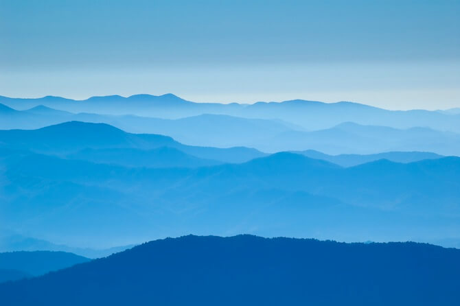 Great Smokey National Park, USA - Mountains in blue mist
