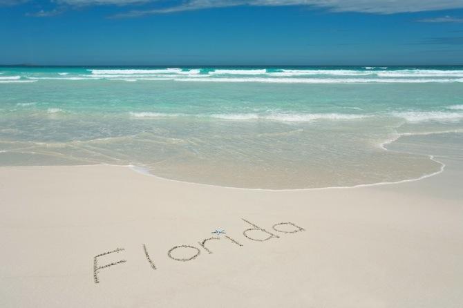 Gulf Coast Beach, Florida, USA - Beach and Turquoise Waters
