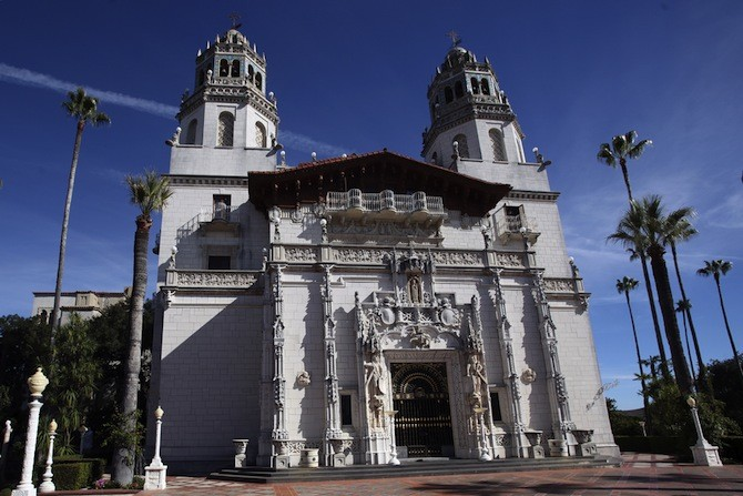 Hearst Castle, California, USA - Frontage of Hearst Castle