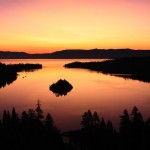 Lake Tahoe - Emerald Bay after sunset, South Lake Tahoe, California, USA