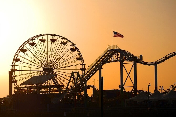 Los Angeles, California, USA - Santa Monica Pier