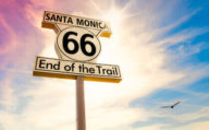 End of the Trail Route 66 Sign, Santa Monica