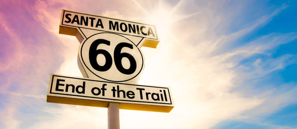 Los Angeles - Santa Monica, California, USA Route 66