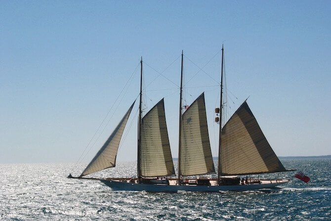 Marthas Vineyard and Nantucket, USA - Boat sailing to Martha's Vineyard