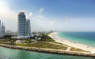 Miami Beach Waterway and Atlantic Ocean