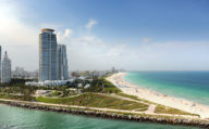 Beach and Waterway in Miami Florida