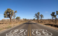 Route 66 through the Mojave Desert, California