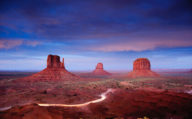 The three mittens in Monument Valley, USA