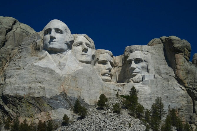 Mount Rushmore, South Dakota, USA - 4 historic Presidents