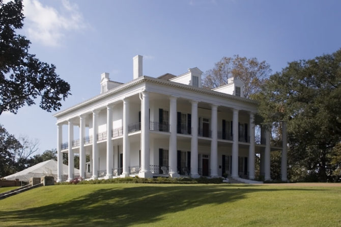 Plantation House with large white columns all around