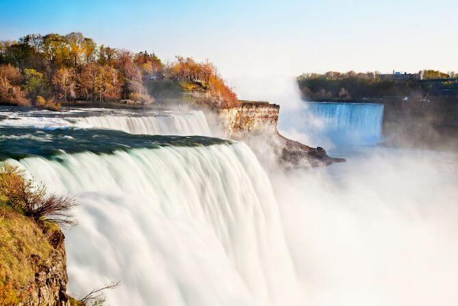 Niagara Falls, New York, USA - American view of Niagara Falls