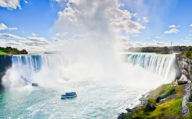 Misty Horseshoe falls at Niagara Falls,Visit Quebec & Ontario