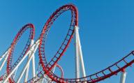 Roller Coaster loops Orlando, Florida