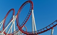 Orlando, Florida, USA - Loops of a Roller Coaster