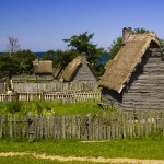 Plymouth Plantation, Massachusetts, USA - Pilgrim Huts
