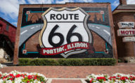 Pontiac Mural on Route 66, Illinois