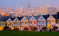 The Painted Ladies, colourful Houses in San Francisco, California