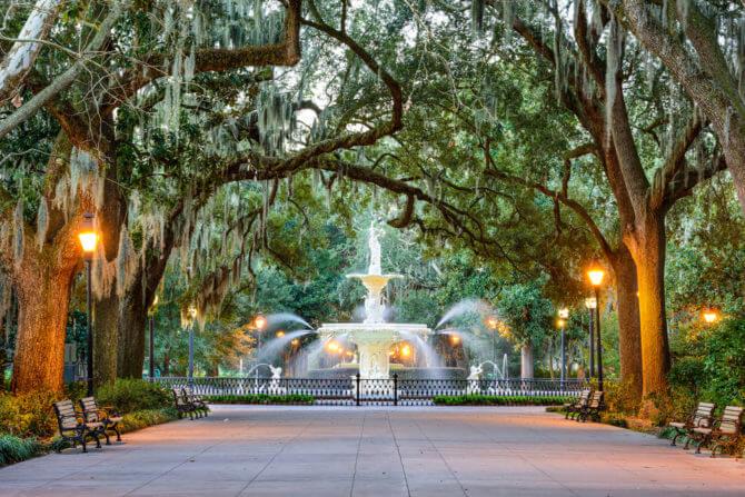 Explore Savannah Georgia, American Road Trip