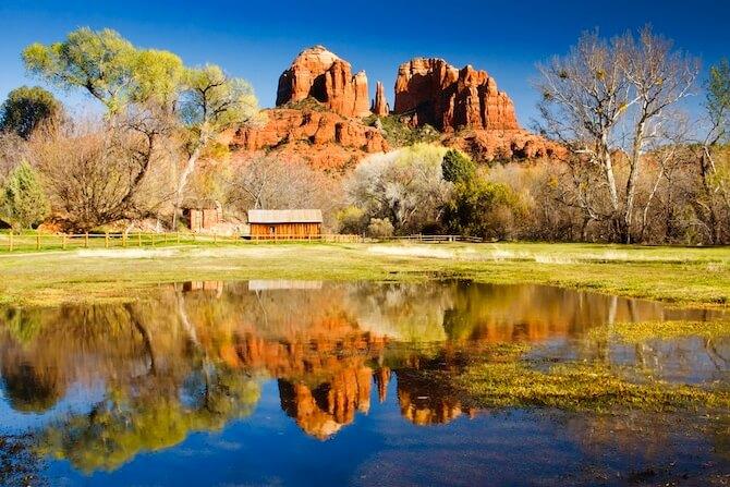 Sedona, Arizona, USA - The view of Cathedral Rock