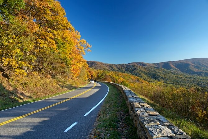 Skyline Drive - Shenandoah National Park in the autumn